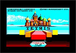 Title screen of Tetris on the Amstrad CPC.
