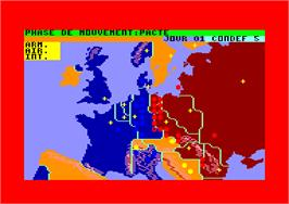 Title screen of Theatre Europe on the Amstrad CPC.