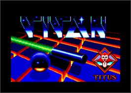 Title screen of Titan on the Amstrad CPC.