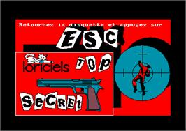 Title screen of Top Secret on the Amstrad CPC.