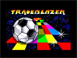Title screen of Trail Blazer on the Amstrad CPC.