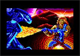 Title screen of Trantor the Last Stormtrooper on the Amstrad CPC.