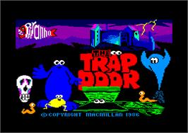 Title screen of Trap Door on the Amstrad CPC.