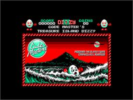 Title screen of Treasure Island Dizzy on the Amstrad CPC.