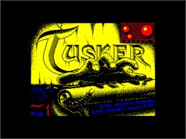 Title screen of Tusker on the Amstrad CPC.