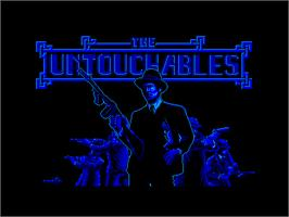 Title screen of Untouchables on the Amstrad CPC.