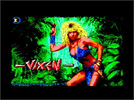 Title screen of Vixen on the Amstrad CPC.