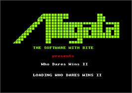 Title screen of Who Dares Wins 2 on the Amstrad CPC.