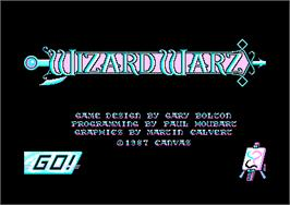 Title screen of Wizard Warz on the Amstrad CPC.