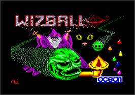 Title screen of Wizball on the Amstrad CPC.