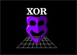 Title screen of Xor on the Amstrad CPC.