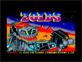 Title screen of Zoids on the Amstrad CPC.
