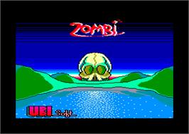 Title screen of Zombi on the Amstrad CPC.