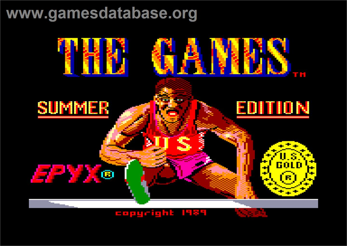 Games: Summer Edition - Amstrad CPC - Artwork - Title Screen