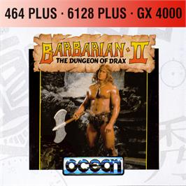 Box cover for Barbarian II - The Dungeon Of Drax on the Amstrad GX4000.