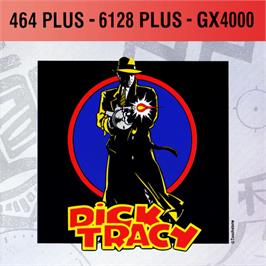 Box cover for Dick Tracy on the Amstrad GX4000.