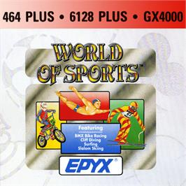 Box cover for Epyx World Of Sports on the Amstrad GX4000.