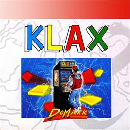 Box cover for Klax on the Amstrad GX4000.