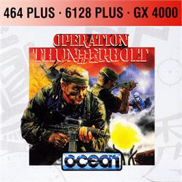 Box cover for Operation Thunderbolt on the Amstrad GX4000.