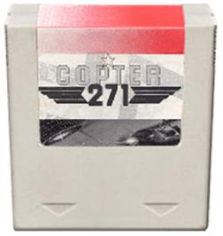 Cartridge artwork for Copter 271 on the Amstrad GX4000.