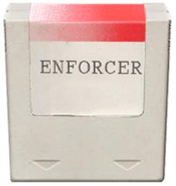 Cartridge artwork for Enforcer, The on the Amstrad GX4000.