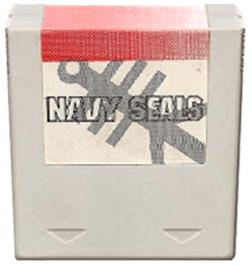 Cartridge artwork for Navy Seals on the Amstrad GX4000.