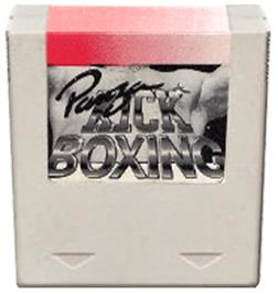 Cartridge artwork for Panza Kickboxing on the Amstrad GX4000.