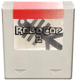 Cartridge artwork for Robocop 2 on the Amstrad GX4000.