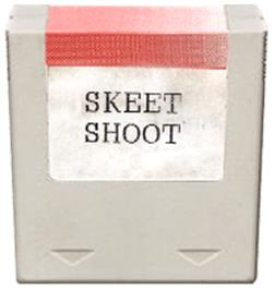 Cartridge artwork for Skeet Shoot on the Amstrad GX4000.