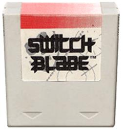 Cartridge artwork for Switchblade on the Amstrad GX4000.