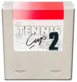 Cartridge artwork for Tennis Cup II on the Amstrad GX4000.