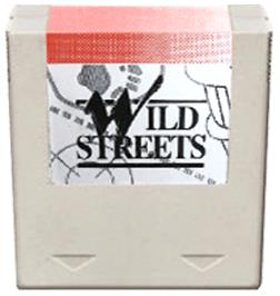 Cartridge artwork for Wild Streets on the Amstrad GX4000.