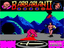 In game image of Barbarian II - The Dungeon Of Drax on the Amstrad GX4000.