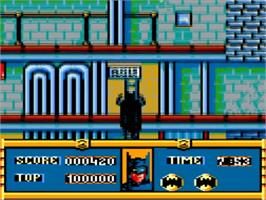In game image of Batman on the Amstrad GX4000.