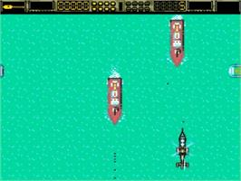 In game image of Copter 271 on the Amstrad GX4000.