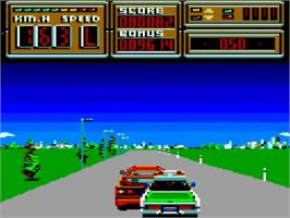 In game image of Crazy Cars II on the Amstrad GX4000.