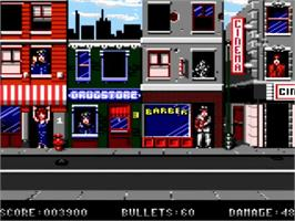 In game image of Enforcer, The on the Amstrad GX4000.