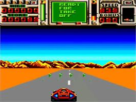 In game image of Fire And Forget 2 on the Amstrad GX4000.