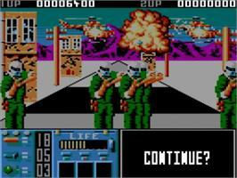 In game image of Operation Thunderbolt on the Amstrad GX4000.