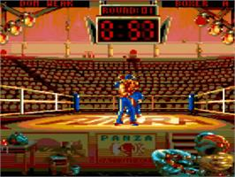 In game image of Panza Kickboxing on the Amstrad GX4000.