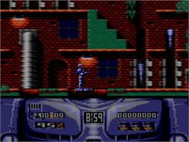 In game image of Robocop 2 on the Amstrad GX4000.