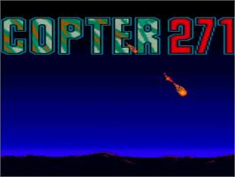 Title screen of Copter 271 on the Amstrad GX4000.