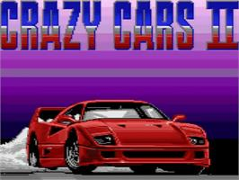 Title screen of Crazy Cars II on the Amstrad GX4000.