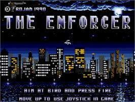 Title screen of Enforcer, The on the Amstrad GX4000.