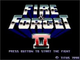 Title screen of Fire And Forget 2 on the Amstrad GX4000.