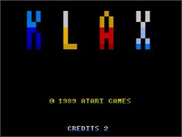 Title screen of Klax on the Amstrad GX4000.
