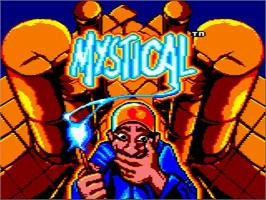 Title screen of Mystical on the Amstrad GX4000.