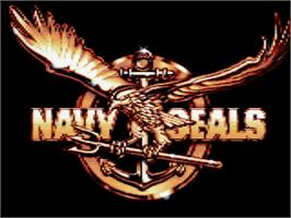 Title screen of Navy Seals on the Amstrad GX4000.