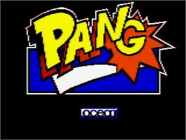 Title screen of Pang on the Amstrad GX4000.