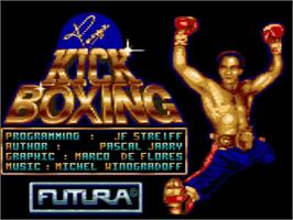 Title screen of Panza Kickboxing on the Amstrad GX4000.